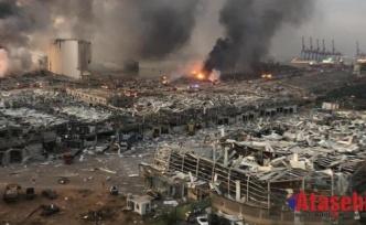 Lübnan'ın başkenti Beyrut'ta Patlamada 63 kişinin hayatını kaybetti