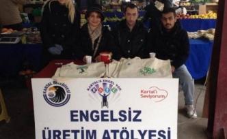 """KARTAL BELEDİYESİ EKOLOJİK PAZAR'DA """"BEZ ÇANTA UYGULAMASI"""""""