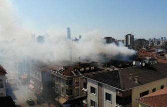 Ataşehir'dekutan yangın