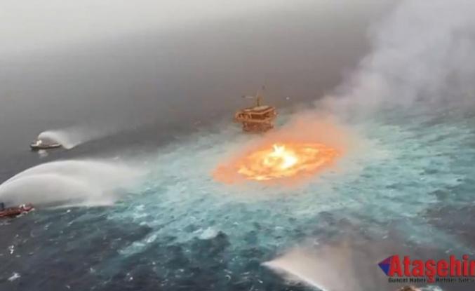 Meksika Körfezi'nde petrol boru hattında çıkan yangın söndürüldü