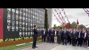 15 Temmuz'da katledilen şehitleri İBB Başkanı Ekrem İmamoğlu'nun katılımı ile anıldı