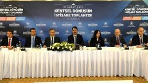 İSTANBUL'DA KENTSEL DÖNÜŞÜM İSTİŞARE TOPLANTISI DÜZENLENDİ