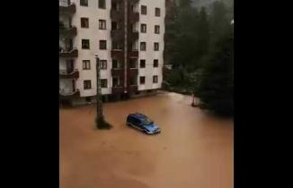 Artvin Arhavi'de sel baskını