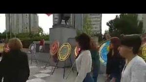ATAŞEHİR'DE CUMHURİYET'İN 96. YILI KUTLAMASI ÇELENK KOYMA TÖRENİ