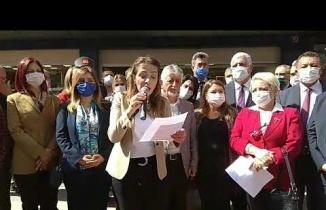 CHP G., Bşk. Yard., İstanbul Milletvekili, Gamze Akkuş İlgezdi, Çankırı Ziyareti, Basın Açıklaması