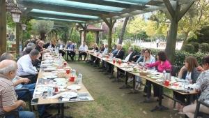 CHP Ataşehir İlçe Başkanlığının muhtarlar ve yerel basının katıldığı Kahvaltıda İlçe Başkanı Celal Yalçının konuşması