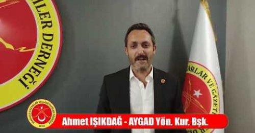 Aygad Başkanı, Ahmet Işıkdağ,  Kültür Sanat Gazeteciliği Eğitimi Proğr.  meslektaşlarını davet etti.