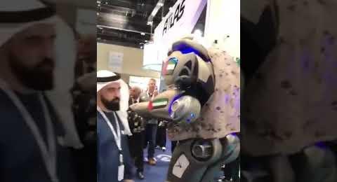 Bahreyn Kralı'nın 6 dil konuşan koruma robotu