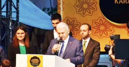 Ak Parti İstanbul Belediye başkan adayı Binali Yıldırım'ın Yenisahra Mahallesi Roman İftarında yaptığı konuşma
