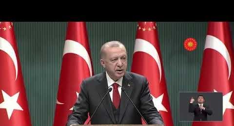 Cumhurbaşkanı Recep Tayyip Erdoğan, Kabinesi Toplantısı'nın ardından basın açıklaması yaptı.