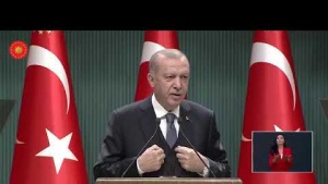 Cumhurbaşkanı Erdoğan Cumhurbaşkanlığı Kabinesi toplantısı sonrası açıklamalarda bulunuyor