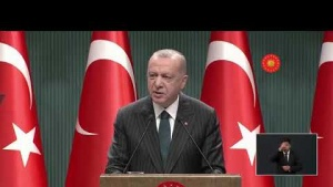 Cumhurbaşkanı Recep Tayyip Erdoğan, Kabine sonrası açıklamalarda bulunuyor