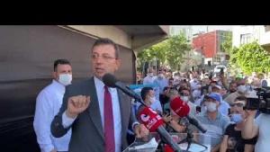 İBB Başkanı, Ekrem İmamoğlu, Arnavutköy, Yeniköy Mahallesi'nde
