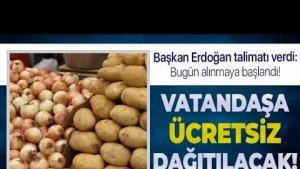 İstanbul'da Ücretsi Patates Soğan dağıtımı Başlıyor