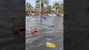İzmir Seferihisar Deprem Tsunami Görüntüsü 24