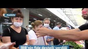 Kadıköy Salı Pazarı'nda üretici tüketici ile buluştu