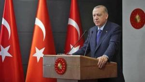 Cumhurbaşkanı Recep Tayyip Erdoğan, Cumhurbaşkanlığı Kabinesi toplantısı sonrası açıklamalarda bulunuyor