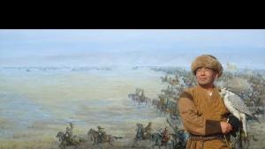 Ressam Esengali Sadyrbayev'in Çalışması