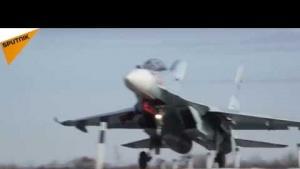Rus savaş uçakları otoyola indi