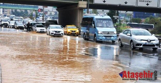 İstanbul'da Sağnak yagış ve su taşkınları oldu