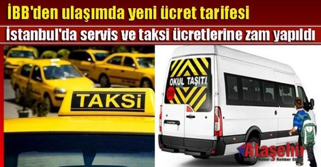 İstanbul'da Taksi, Minibüs, Öğrenci Servis Ücretleri Zamlandı