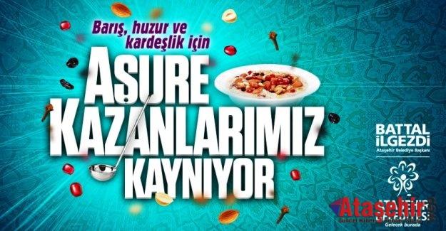 ATAŞEHİR'DE AŞURE KAZANLARI KAYNAYACAK