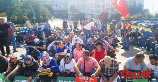 İBB'li işçilerin eylemi 30'uncu güne girdi