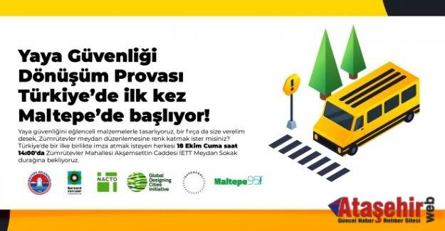 Yaya güvenliği dönüşüm provası Türkiye'de ilk kez Maltepe'de başlıyor