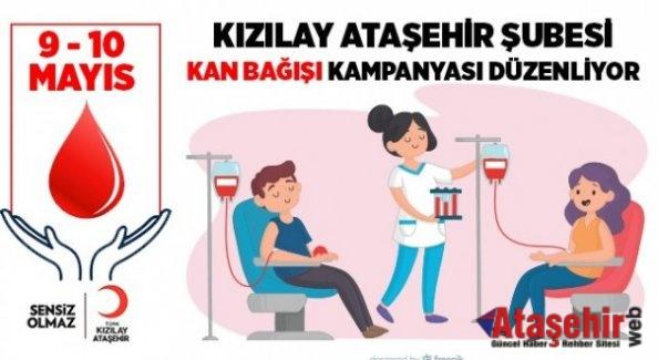 Kızılay Ataşehir Şubesi kan bağışlarınızı bekliyor