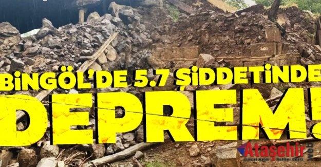 Bingöl'de 5.7 büyüklüğünde deprem!