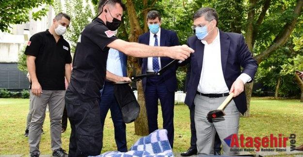 KADIKÖY KAYMAKAMI ÖZARSLAN'DAN 'AFET PARKI' ZİYARETİ