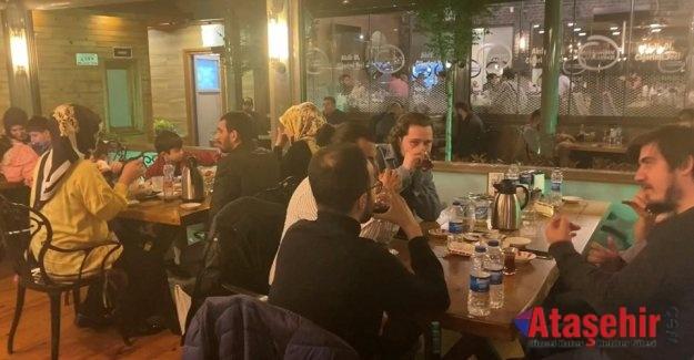 Ataşehir'de Kaçak iftara polis baskını