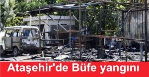 Ataşehir'de büfe yangını korkuttu