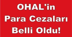 OHAL'in Para Cezaları Belli Oldu!