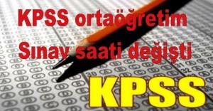 KPSS ortaöğretim sınav saati değişti
