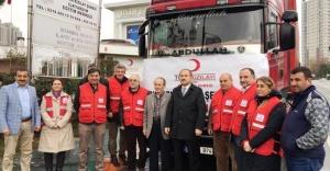 Kızılay Ataşehir'den Halep'e 2 Tır dolusu yardım