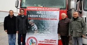 Ataşehir Birlik Platformun'dan Halep'e yardım