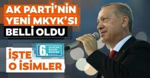 İşte AK Parti'nin MYK'sı