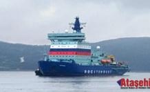 """""""Arktika"""" Nükleer Buzkıran Gemisi, Murmansk'ta Kayıtlı Bulunduğu Limana Ulaştı"""