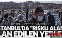 İstanbul'da ilan edilen Riskli Alanlar