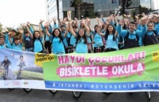 """İBB'DEN """"HAYDİ ÇOCUKLAR BİSİKLETLE OKULA""""..."""