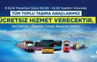 İstanbul'da pazartesi toplu ulaşım ücretsiz...