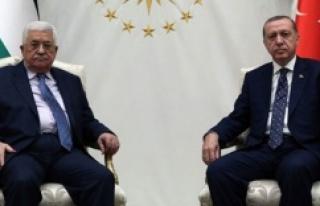Cumhurbaşkanı Erdoğan, Filistin Devlet Başkanı...