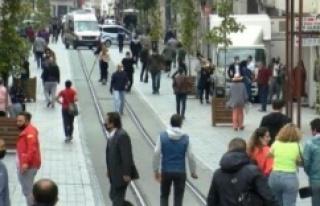 Taksim Meydanı ve İstiklal Caddesi'nde maske...