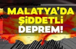 Malatya'da 5 büyüklüğünde deprem meydana...