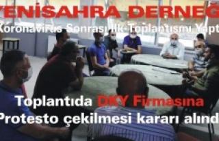Yenisahra Derneği Koronavirüs Sonrası İlk Toplantısını...