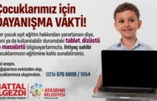 ATAŞEHİR'DE ÇOCUKLAR UZAKTAN EĞİTİME UZAK...