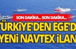 Türkiye Ege'de yeni NAVTEX ilan etti