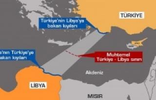BM, Türkiye ile Libya arasındaki deniz sınırı...