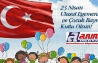 23 Nisan Ulusal Egemenlik ve Çocuk Bayramı kutlu...